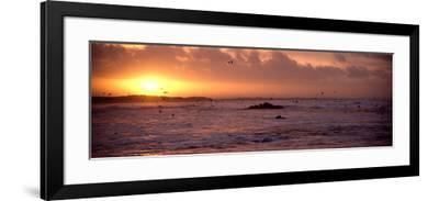 Sunrise over the Plouharnel Beach, Morbihan, Brittany, France--Framed Photographic Print