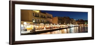 Promenade at Venetian Port, Chania, Crete, Greece--Framed Photographic Print