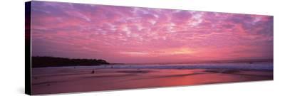 Surf on the Beach at Sunset, Hapuna Beach, Kohala Coast, Hawaii, Usa--Stretched Canvas Print