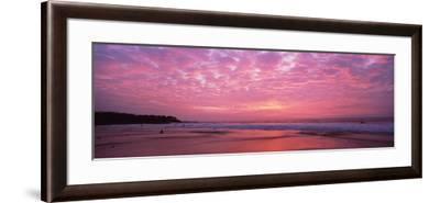 Surf on the Beach at Sunset, Hapuna Beach, Kohala Coast, Hawaii, Usa--Framed Photographic Print