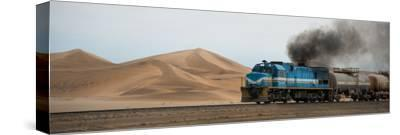Dunes and Train, Walvis Bay, Namibia--Stretched Canvas Print