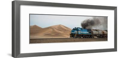 Dunes and Train, Walvis Bay, Namibia--Framed Photographic Print