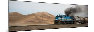 Dunes and Train, Walvis Bay, Namibia--Mounted Photographic Print