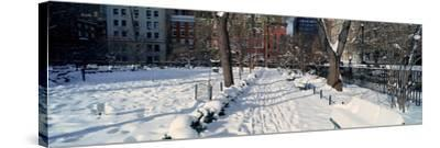Panoramic View of Historic Homes and Gramercy Park--Stretched Canvas Print