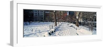 Panoramic View of Historic Homes and Gramercy Park--Framed Photographic Print