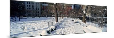 Panoramic View of Historic Homes and Gramercy Park--Mounted Photographic Print