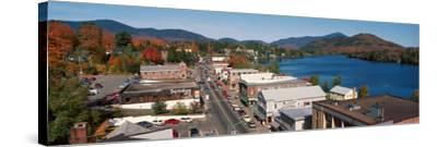 Town of Lake Placid in Autumn, New York--Stretched Canvas Print