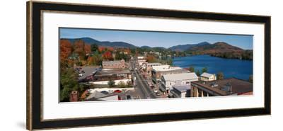 Town of Lake Placid in Autumn, New York--Framed Photographic Print