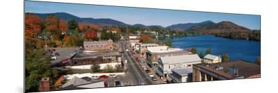 Town of Lake Placid in Autumn, New York--Mounted Photographic Print