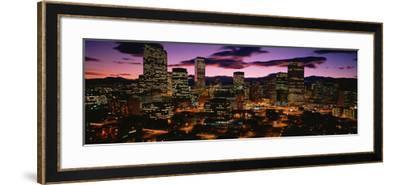 Denver, Colorado Skyline at Dusk--Framed Photographic Print