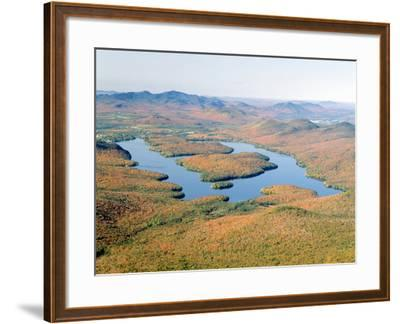 Lake Placid in Autumn, Adirondack, New York--Framed Photographic Print