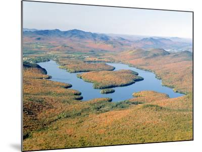 Lake Placid in Autumn, Adirondack, New York--Mounted Photographic Print