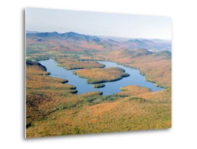 Lake Placid in Autumn, Adirondack, New York--Metal Print
