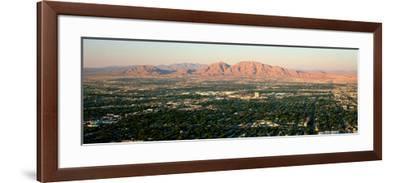 Panoramic View of Las Vegas Nevada Gambling City at Sunset--Framed Photographic Print