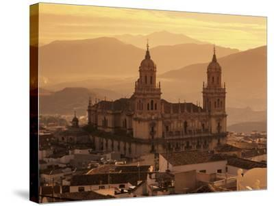 Jaen Cathedral at Sunset, Jaen, Andalucia, Spain-Stuart Black-Stretched Canvas Print