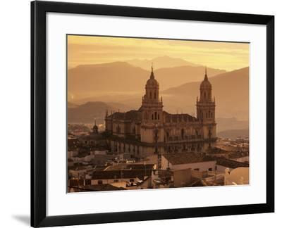 Jaen Cathedral at Sunset, Jaen, Andalucia, Spain-Stuart Black-Framed Photographic Print