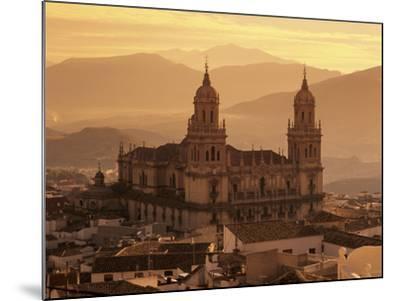 Jaen Cathedral at Sunset, Jaen, Andalucia, Spain-Stuart Black-Mounted Photographic Print
