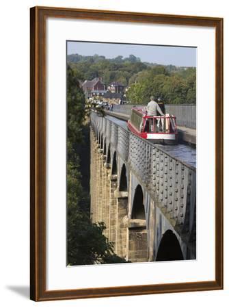 Pontcysyllte Aqueduct, Built 1795 to 1805, and the Ellesmere Canal-Stuart Black-Framed Photographic Print