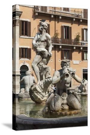 Fontana Del Moro, by Bernini, Piazza Navona, Rome, Lazio, Italy-James Emmerson-Stretched Canvas Print