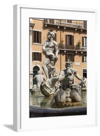 Fontana Del Moro, by Bernini, Piazza Navona, Rome, Lazio, Italy-James Emmerson-Framed Photographic Print
