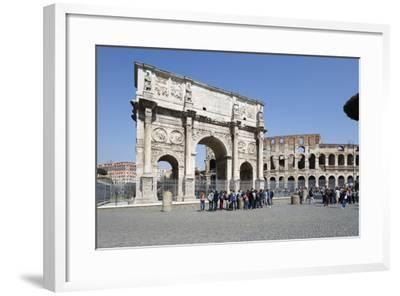 Arch of Constantine (Arco Di Costantino) and the Colosseum, Rome, Lazio, Italy-Stuart Black-Framed Photographic Print