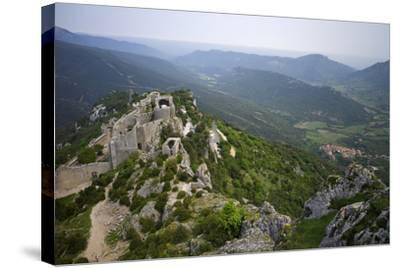 Peyrepertuse Cathar Castle, French Pyrenees, France-Rob Cousins-Stretched Canvas Print