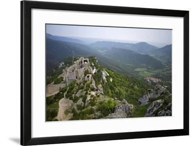 Peyrepertuse Cathar Castle, French Pyrenees, France-Rob Cousins-Framed Photographic Print