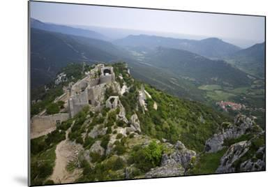 Peyrepertuse Cathar Castle, French Pyrenees, France-Rob Cousins-Mounted Photographic Print