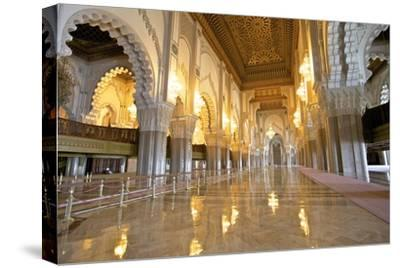 Interior of Hassan Ll Mosque, Casablanca, Morocco, North Africa, Africa-Neil Farrin-Stretched Canvas Print