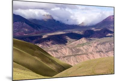 Multi Coloured Mountains, Humahuaca, Province of Jujuy, Argentina-Peter Groenendijk-Mounted Photographic Print