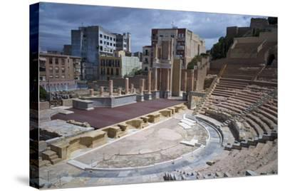 The Roman Theatre, Cartagena, Spain-Rob Cousins-Stretched Canvas Print