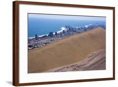 Iquique Town and Beach, Atacama Desert, Chile-Peter Groenendijk-Framed Photographic Print