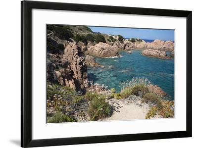The Sea at Costa Paradiso, Sardinia, Italy, Mediterranean-Ethel Davies-Framed Photographic Print