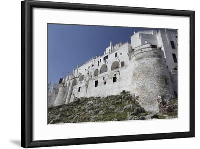The Whitewashed City Wall, Including a Defensive Tower, in the White City (Citta Bianca)-Stuart Forster-Framed Photographic Print