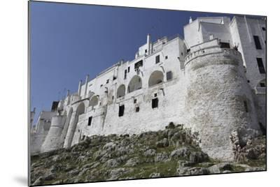 The Whitewashed City Wall, Including a Defensive Tower, in the White City (Citta Bianca)-Stuart Forster-Mounted Photographic Print