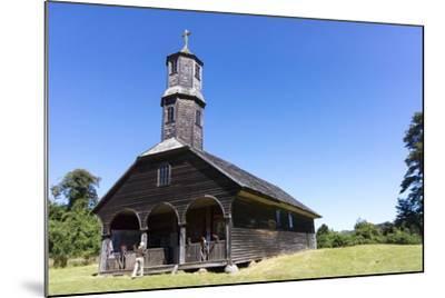 San Antonio Church, Colo, Island of Chiloe, Chile-Peter Groenendijk-Mounted Photographic Print