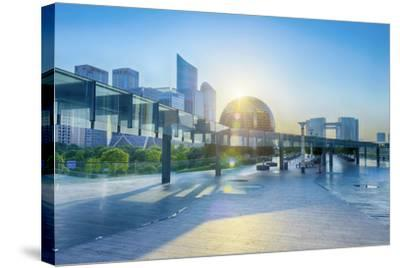 Brand New Skyscrapers and Modern Architecture in an Hdr Capture in Jianggan-Andreas Brandl-Stretched Canvas Print