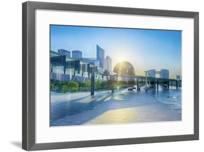 Brand New Skyscrapers and Modern Architecture in an Hdr Capture in Jianggan-Andreas Brandl-Framed Photographic Print