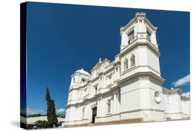 San Pedro Cathedral Built in 1874 on Parque Morazan in This Important Northern Commercial City-Rob Francis-Stretched Canvas Print