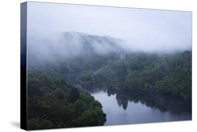 Dawn, Crozant Castle and the River Creuse, Limousin, France, Europe-Jean Brooks-Stretched Canvas Print