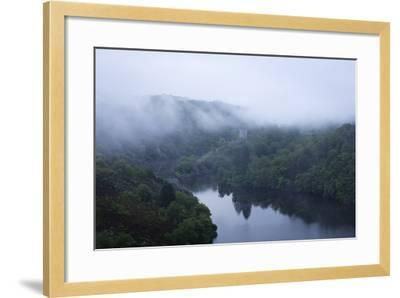 Dawn, Crozant Castle and the River Creuse, Limousin, France, Europe-Jean Brooks-Framed Photographic Print