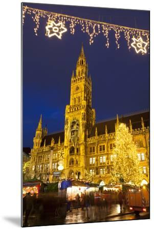 Christmas Market in Marienplatz and the New Town Hall, Munich, Bavaria, Germany, Europe-Miles Ertman-Mounted Photographic Print