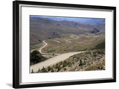 Winding Road, Foothills of the Andes, Argentina-Peter Groenendijk-Framed Photographic Print