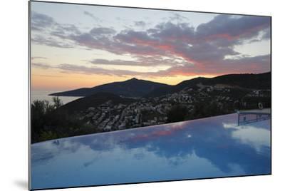 Infinity Pool at Sunset, Mediteran Hotel, Kalkan-Stuart Black-Mounted Photographic Print