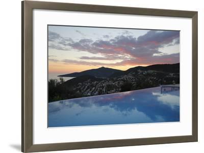 Infinity Pool at Sunset, Mediteran Hotel, Kalkan-Stuart Black-Framed Photographic Print