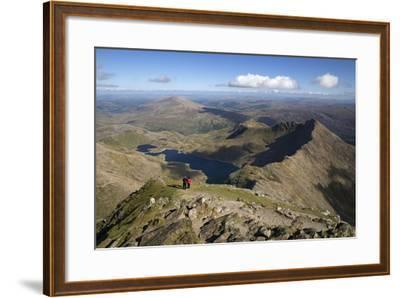 View from Summit of Snowdon to Llyn Llydaw and Y Lliwedd Ridge-Stuart Black-Framed Photographic Print