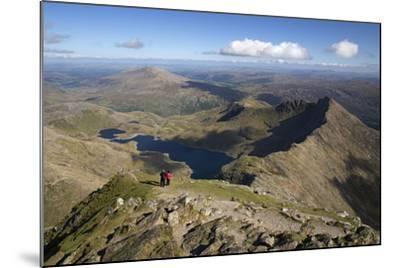 View from Summit of Snowdon to Llyn Llydaw and Y Lliwedd Ridge-Stuart Black-Mounted Photographic Print