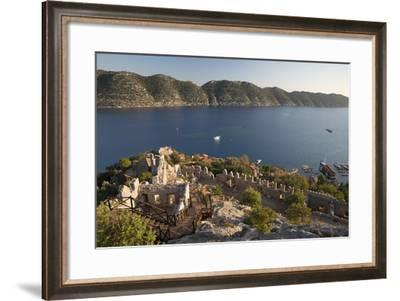 View over Castle and Kekova, Simena (Kalekoy), Near Kas-Stuart Black-Framed Photographic Print