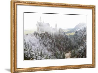 Neuschwanstein Castle in Winter, Fussen, Bavaria, Germany, Europe-Miles Ertman-Framed Photographic Print