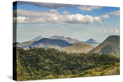 The North West Volcanic Chain-Rob Francis-Stretched Canvas Print